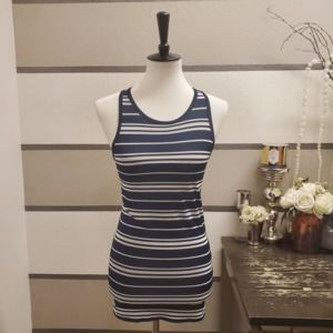 Athleta-NWT Navy/White Stripe Racerback